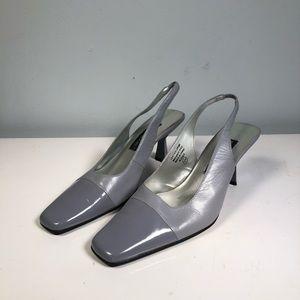 Vintage blue slingback heels by Jennifer Moore